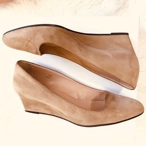Tod's Suede Wedge Shoes